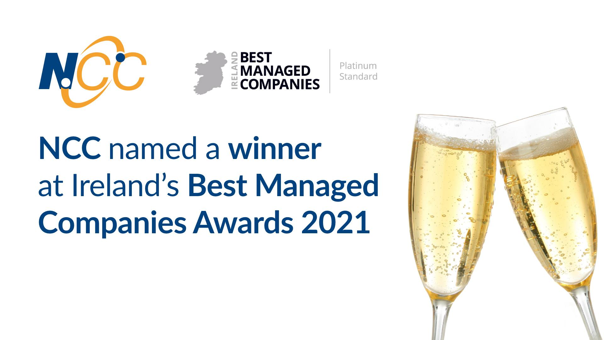 NCC named a winner at Ireland's Best Managed Companies Awards 2021 2
